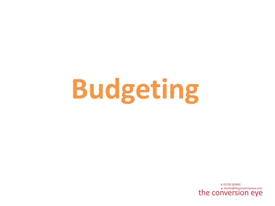 How much should the budget be.Largely dependent on sector and campaigns.