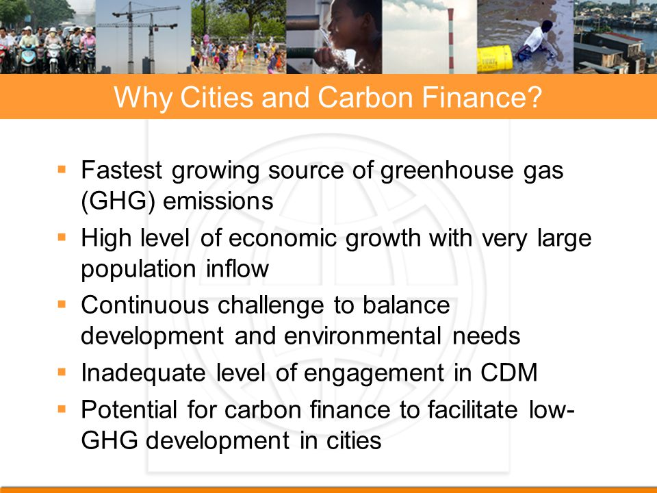 Why Cities and Carbon Finance.