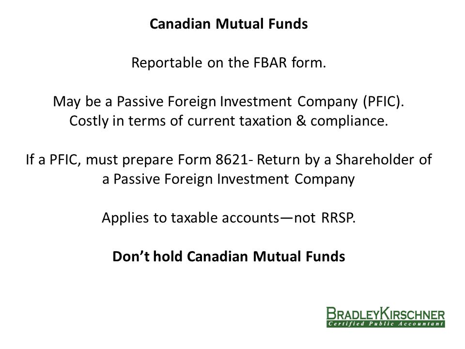 Canadian Mutual Funds Reportable on the FBAR form.
