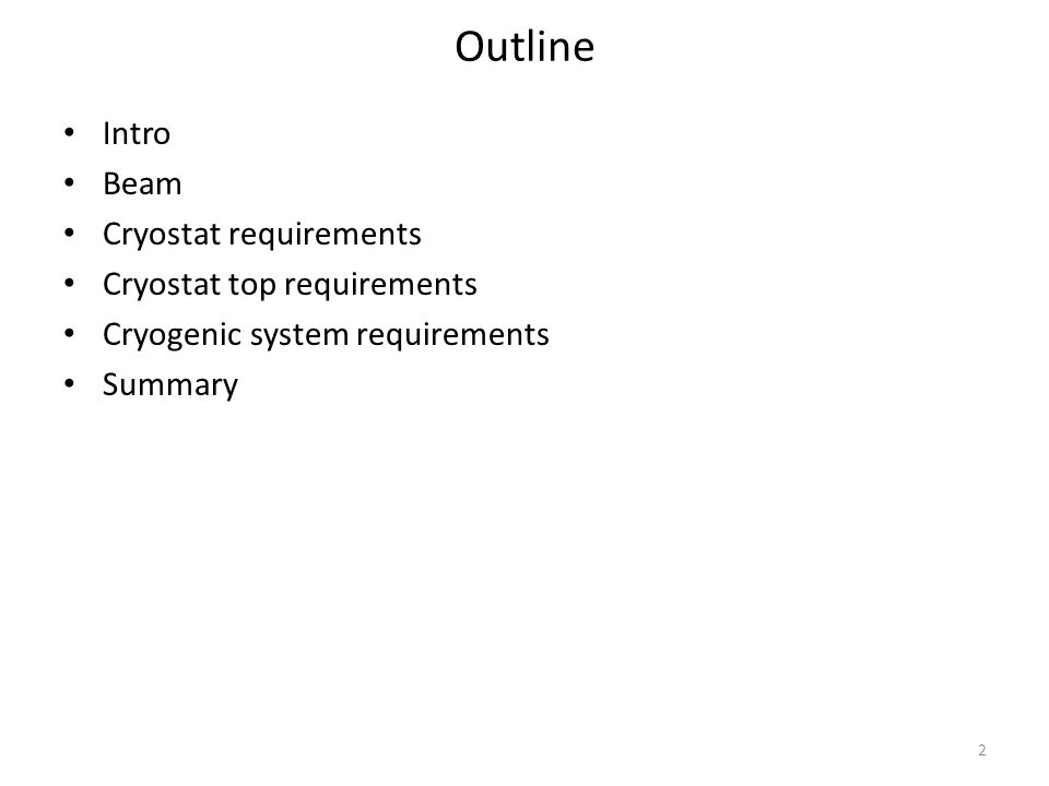 Summary 8.4 m (H) x 9.5 m (L) x 7.3 m (W) is the internal size required by the TPC elements.
