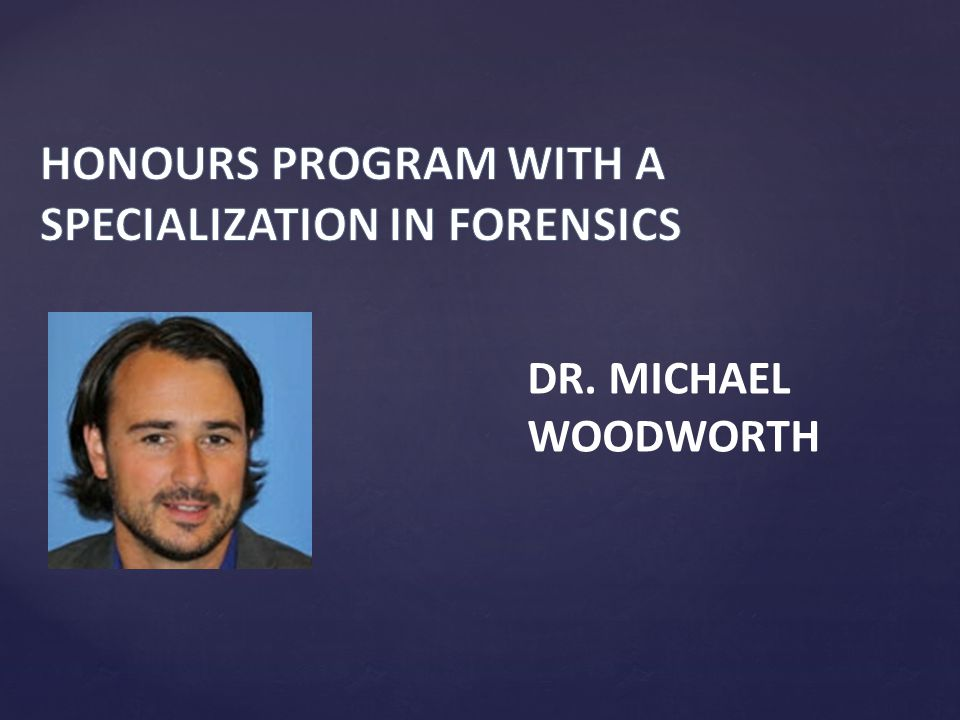 DR. MICHAEL WOODWORTH