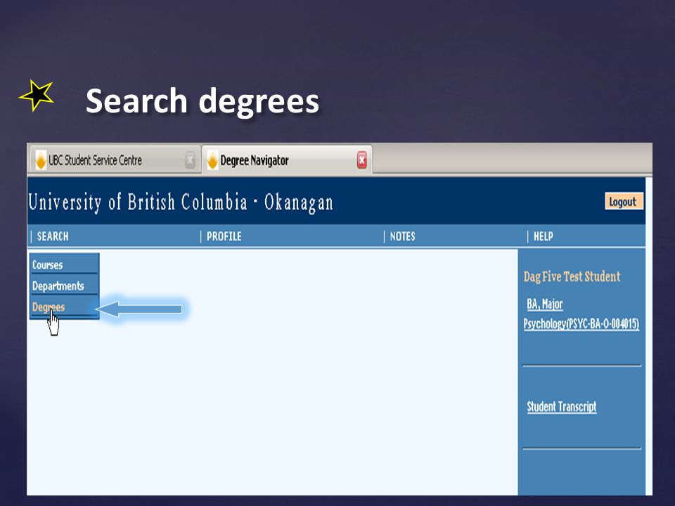 Search degrees