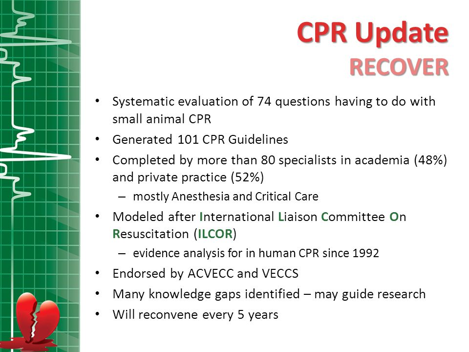 CPA CPA = Cardiopulmonary Arrest CPR CPR = Cardiopulmonary Resuscitation PCA PCA = Post Cardiac Arrest PICO PICO = Population-Intervention-Comparison-Outcome (Q format) <6% of dogs and cats that experience CPA in the hospital survive to discharge.