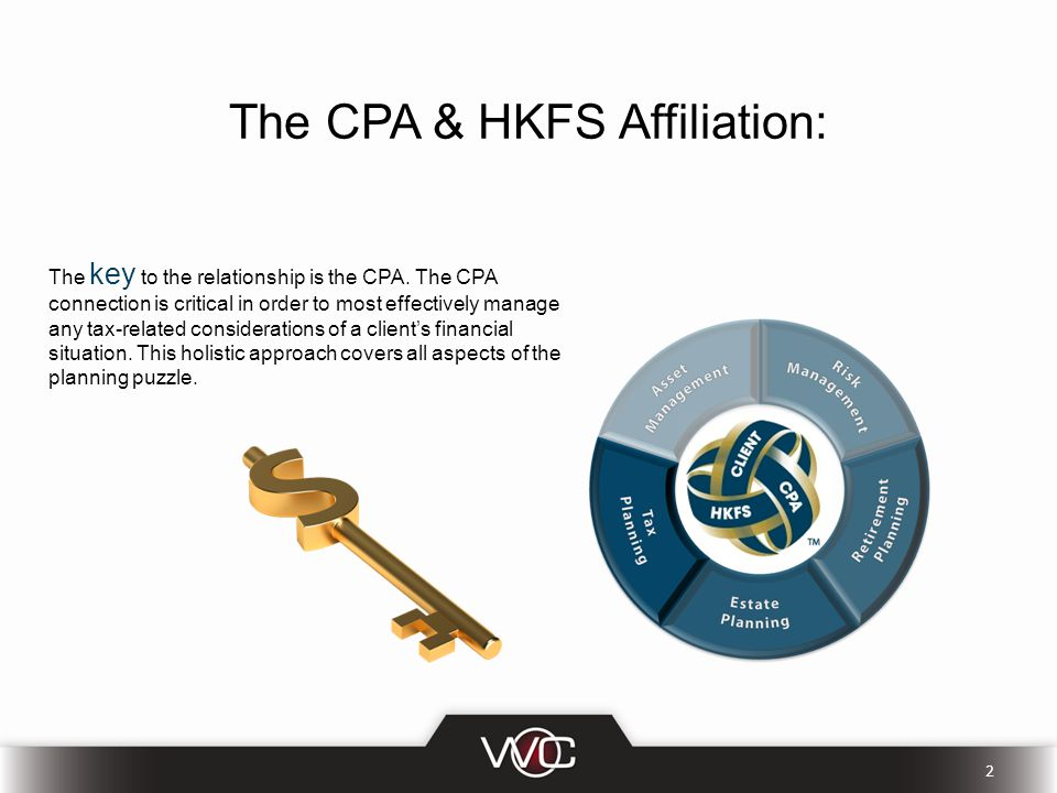 The CPA & HKFS Affiliation: The key to the relationship is the CPA.