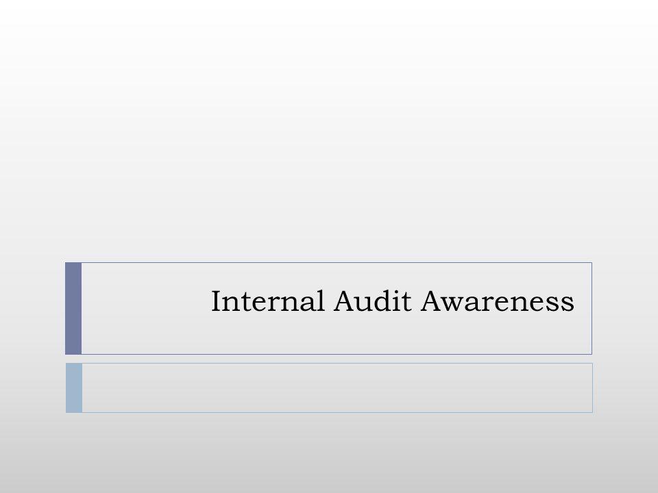Internal Audit Awareness