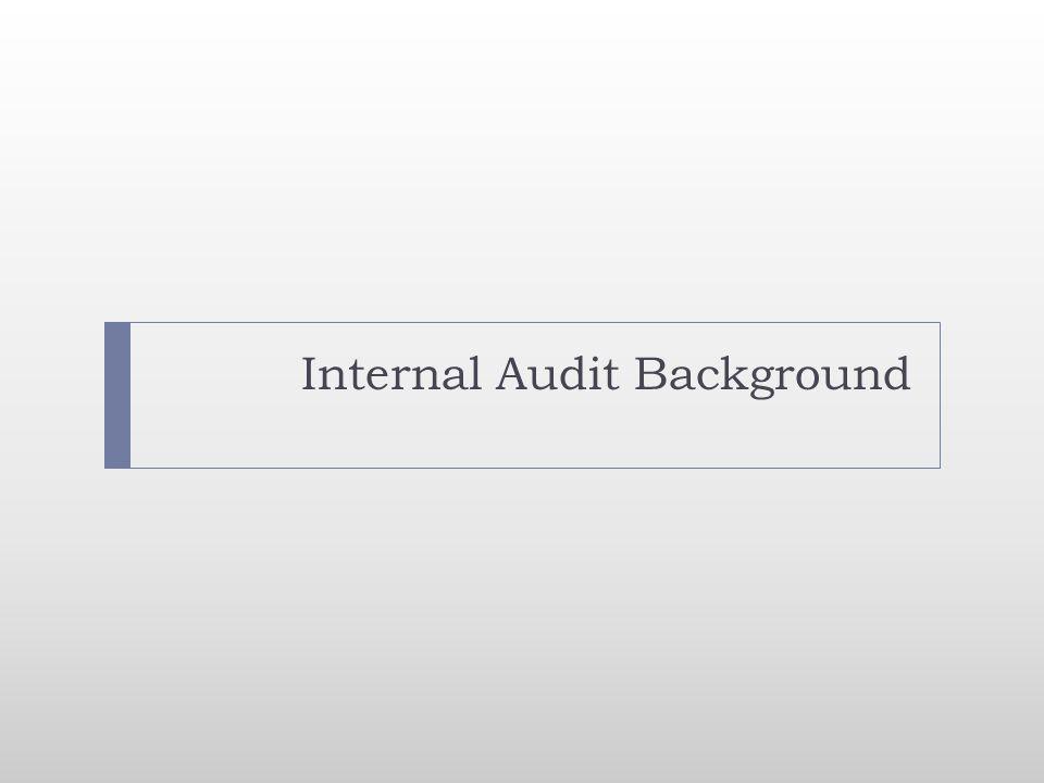 Internal Audit Background