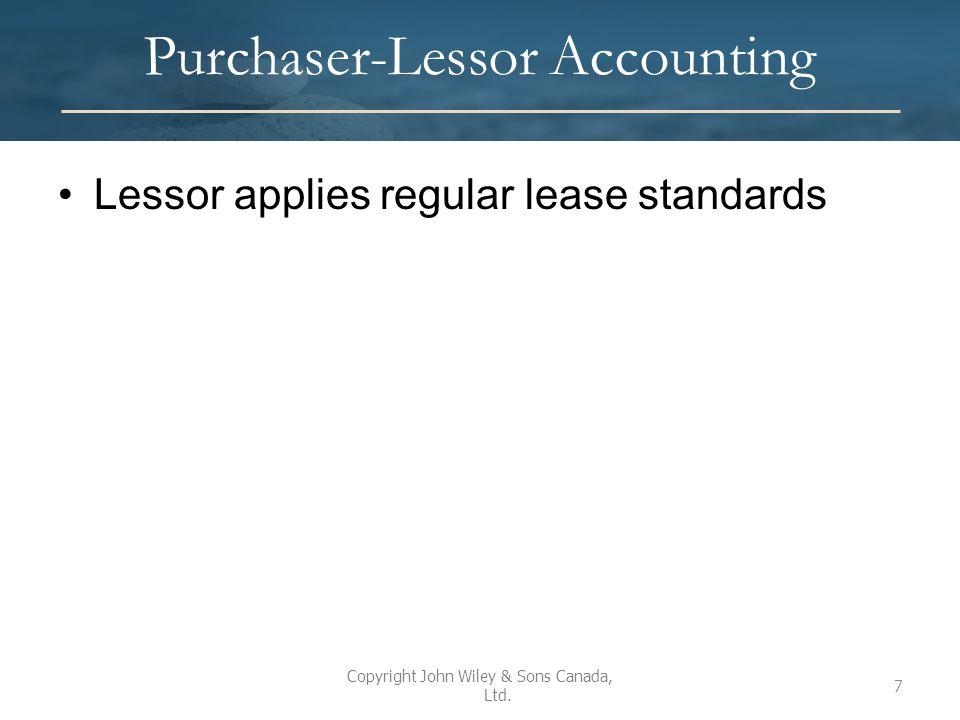 Sale-Leaseback Illustration Given: On Jan 1, 2015 Lessee Inc.