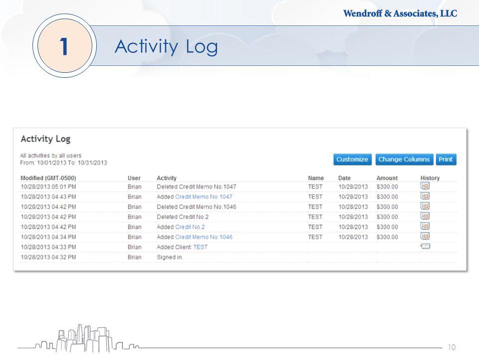 10 Activity Log 1
