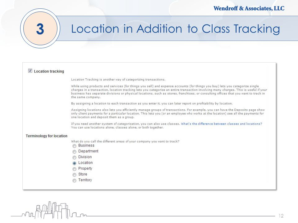 12 Location in Addition to Class Tracking 3