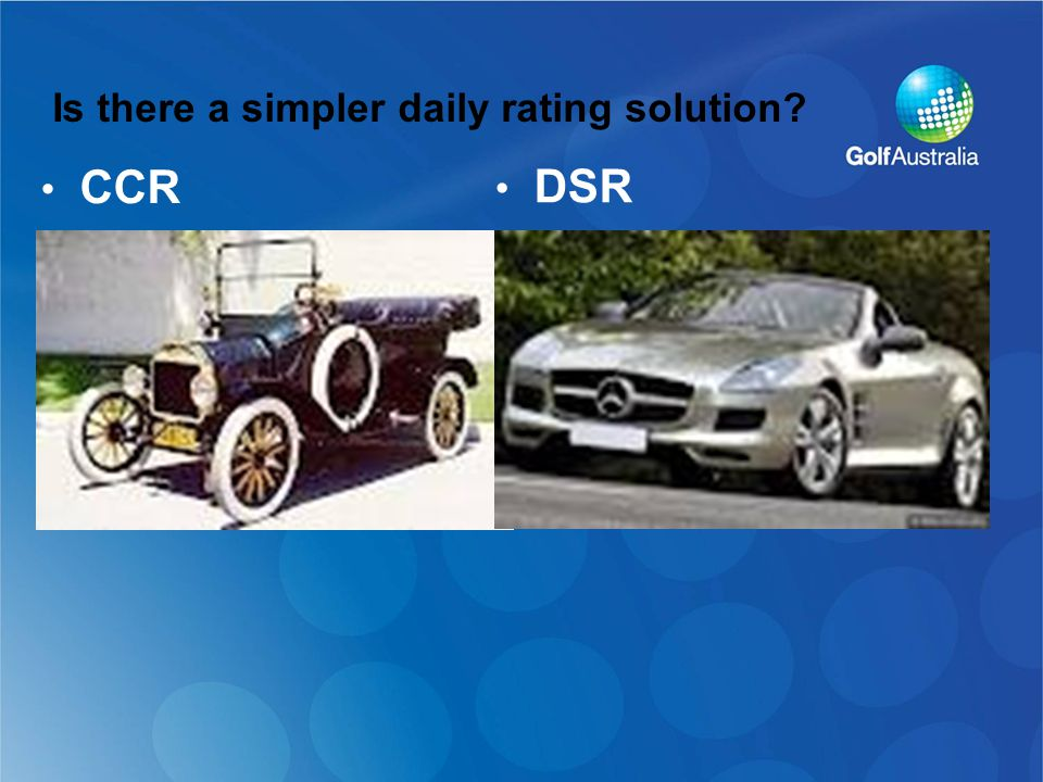Is there a simpler daily rating solution CCR DSR