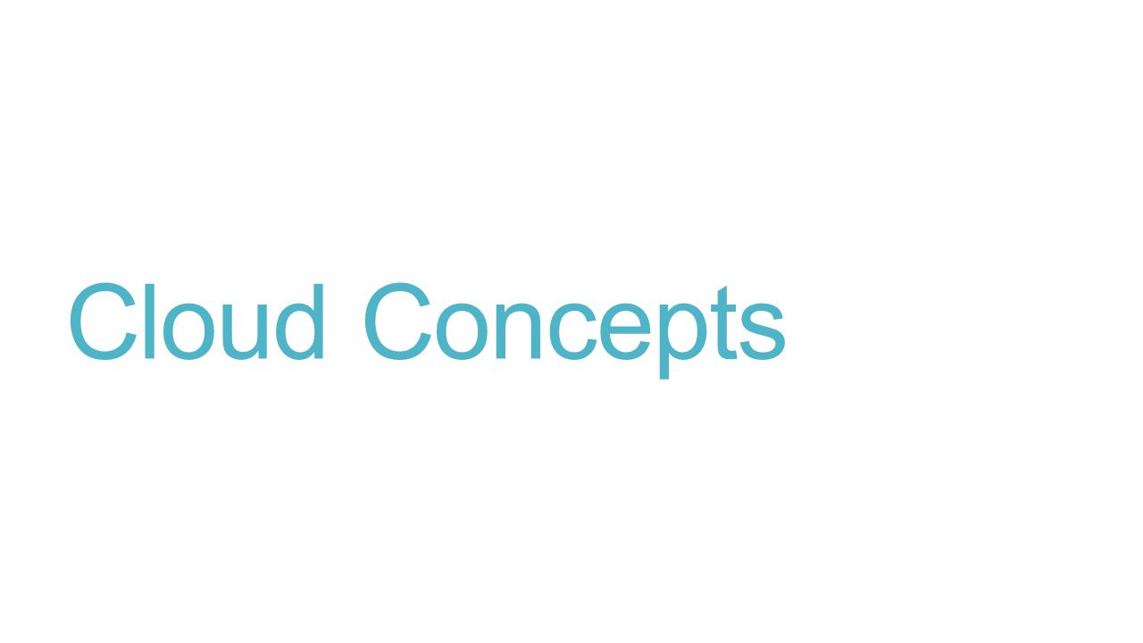 Cloud Concepts