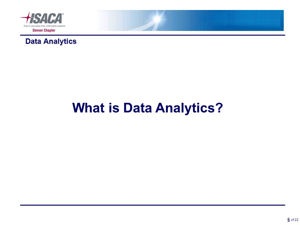 6 6 of 22 Data Analytics What is Data Analytics