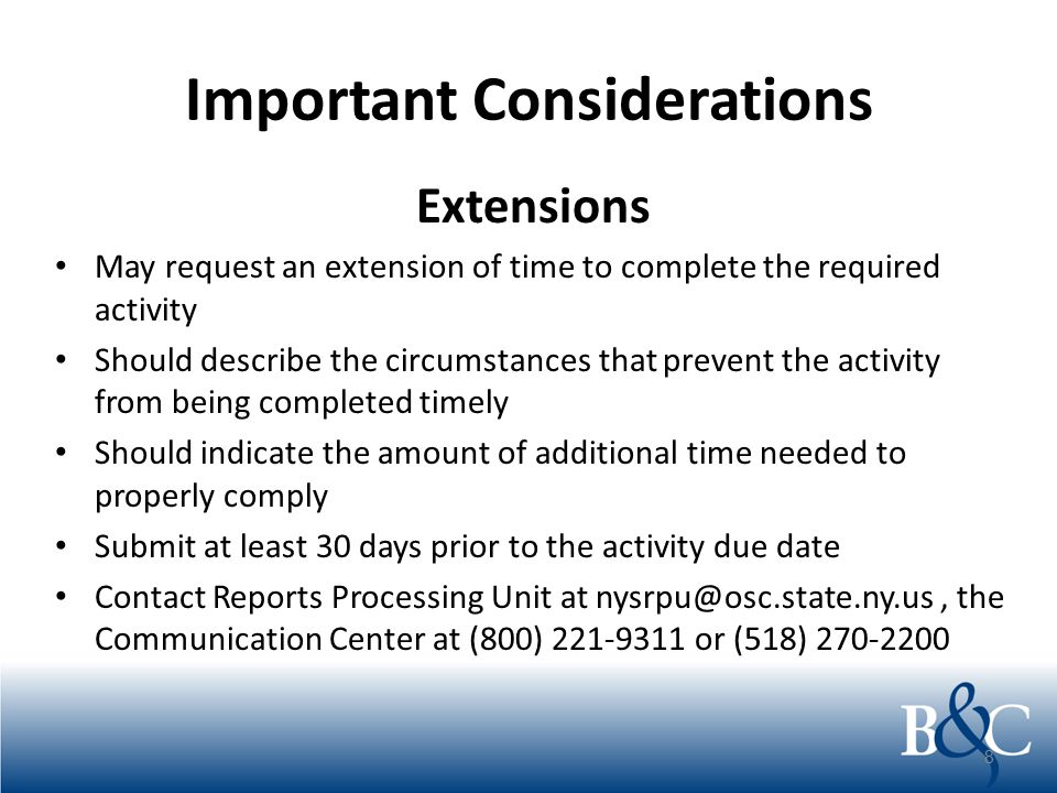 Important Considerations Exemptions Not able to comply with any statutory or regulatory reporting requirement May make application to the Reports Processing Unity seeking exemption from the mandated processing An equally efficient and effective method of reporting is available 9