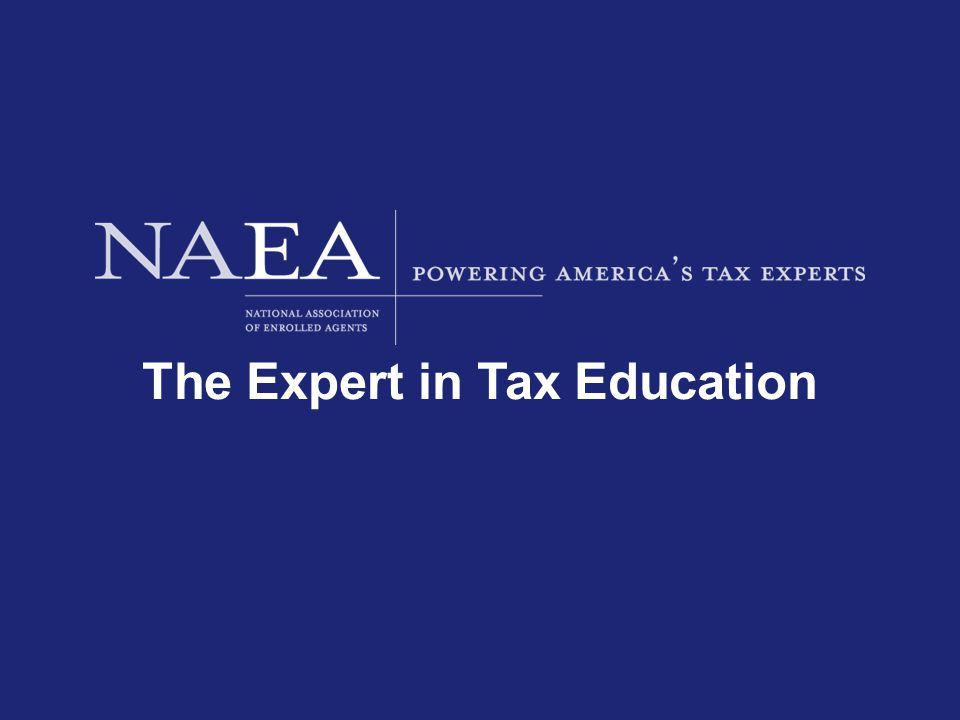 The Expert in Tax Education