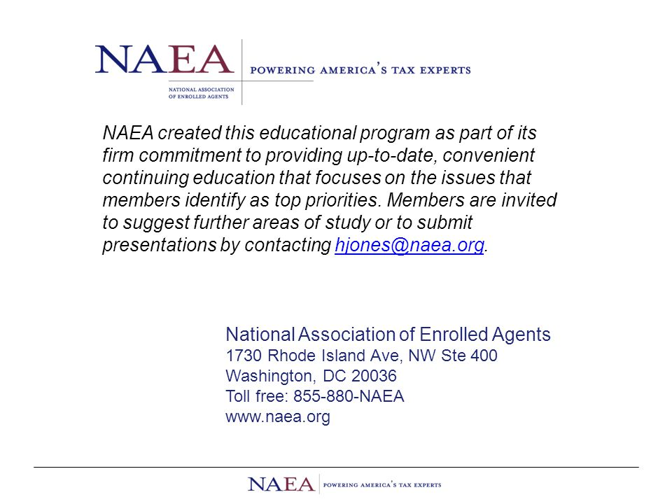 NAEA created this educational program as part of its firm commitment to providing up-to-date, convenient continuing education that focuses on the issues that members identify as top priorities.