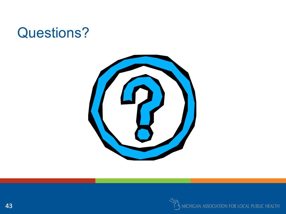 Questions? 43