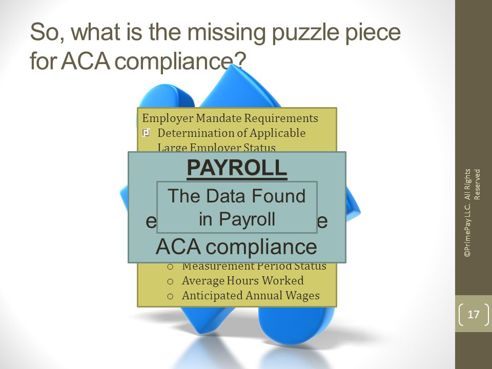 So, what is the missing puzzle piece for ACA compliance.