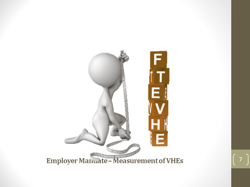 Employer Mandate – Measurement of VHEs 7