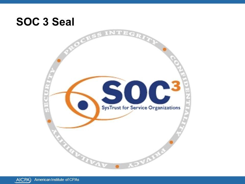American Institute of CPAs SOC 3 Seal