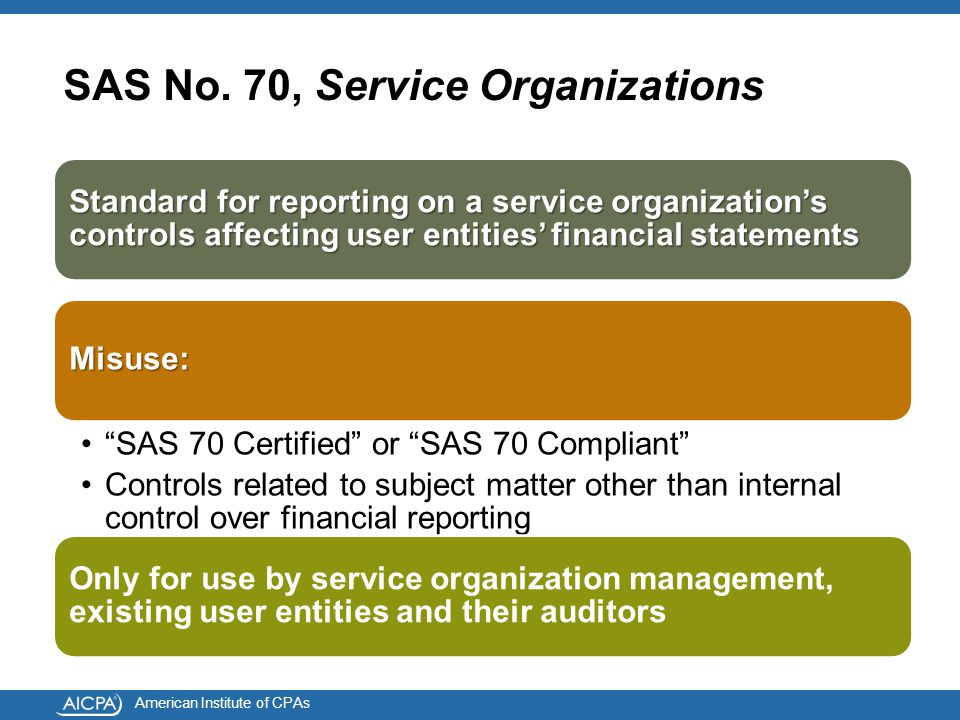 American Institute of CPAs SAS No.