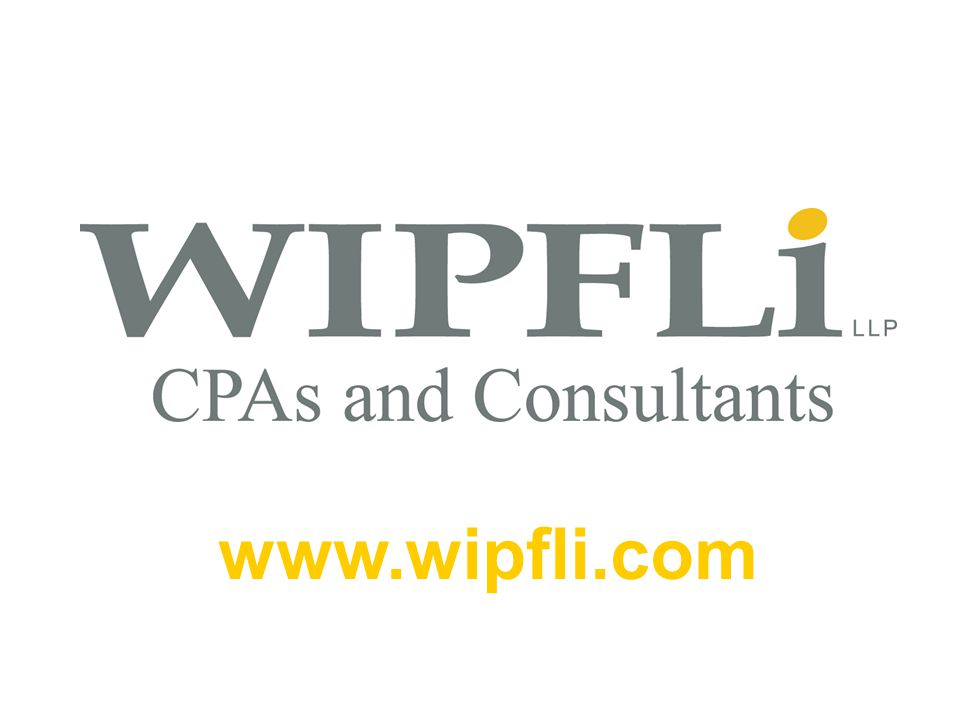 © Wipfli LLP 35 www.wipfli.com