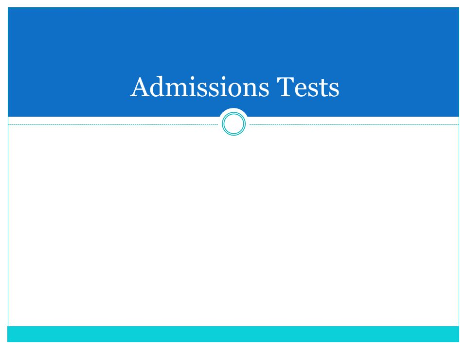 Admissions Tests