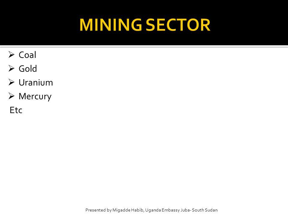  Cement  Coal  Gold  Uranium  Mercury Etc