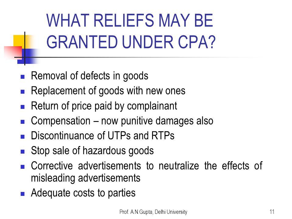 Prof. A.N.Gupta, Delhi University10 Banking R.G. Aggarwal's case (Cheque book) SBI case - PPF matter (Prof. Gulzari Lal) Credit Cards (A.N. Gupta v/s