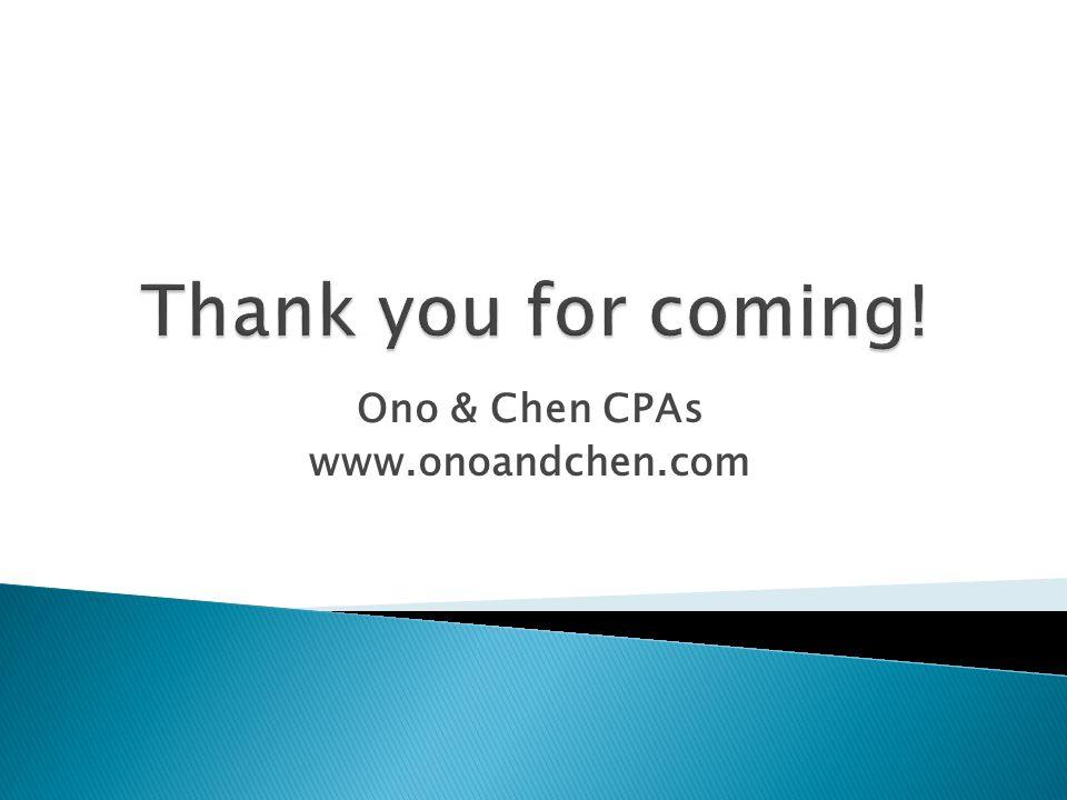 Ono & Chen CPAs www.onoandchen.com