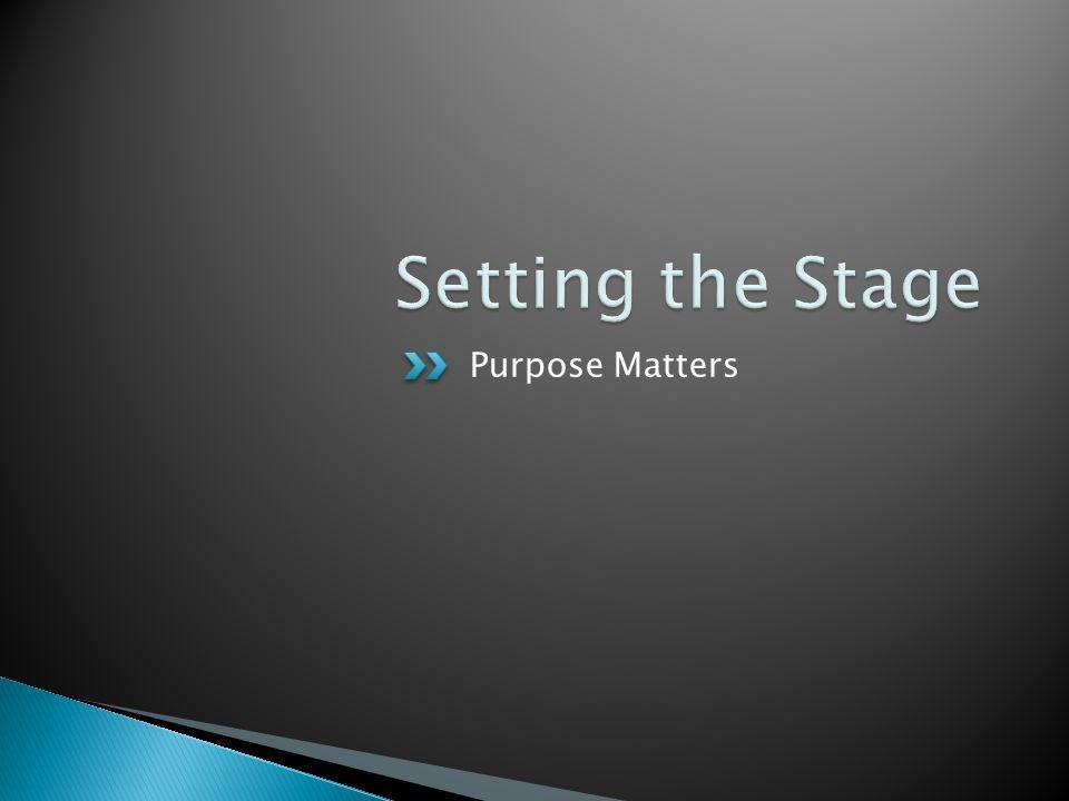 Purpose Matters