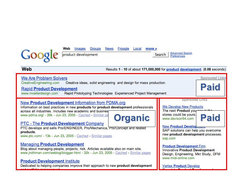 Organic Paid Paid