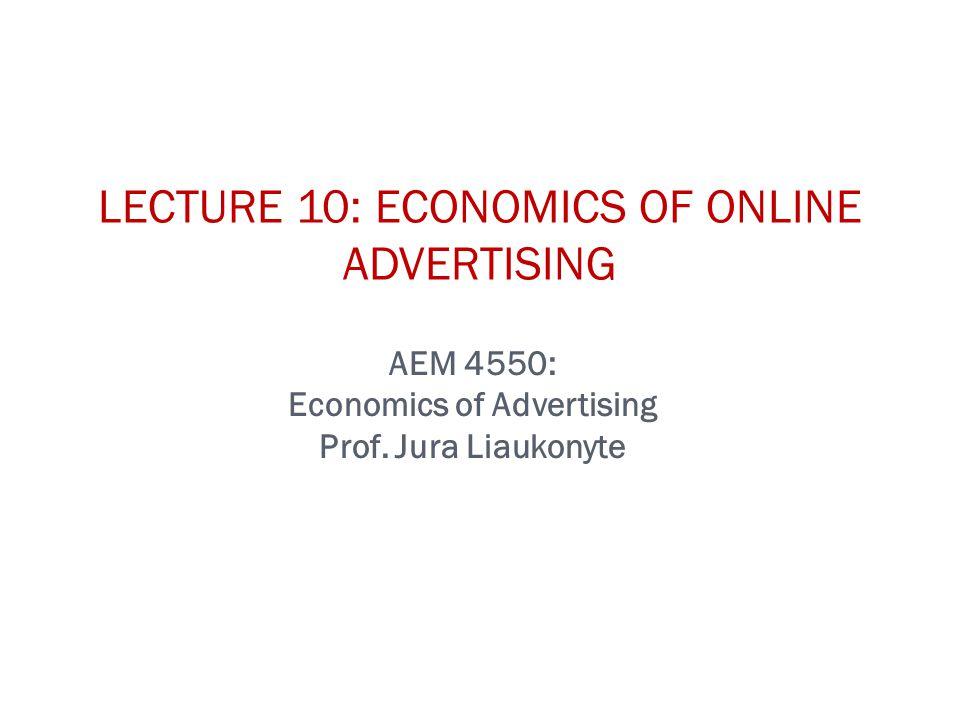 AEM 4550: Economics of Advertising Prof.