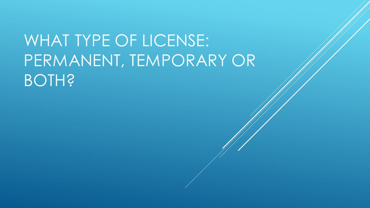PERMANENT SALES TAX LICENSE License: Established Presence Fixed Place - Submit form TC-69 for acct.