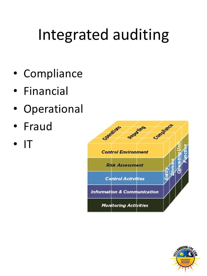 Integrated auditing Compliance Financial Operational Fraud IT
