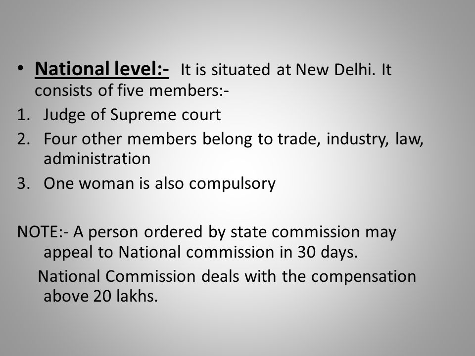 National level:- It is situated at New Delhi.
