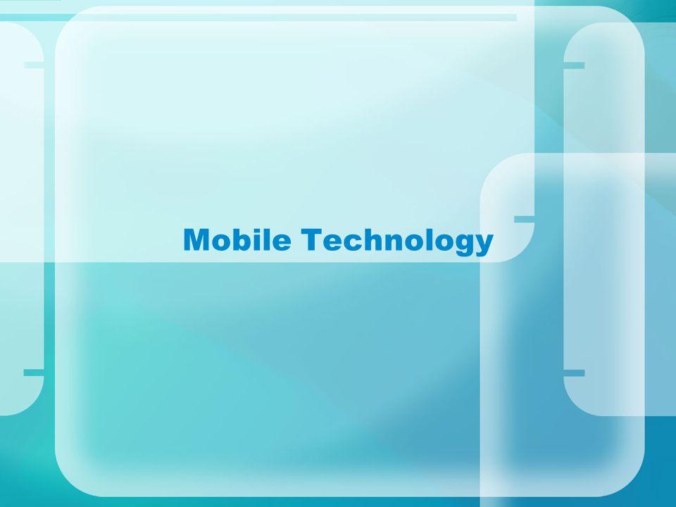 Mobile Standards Speed GSM: Global System for Mobile communication – backbone of mobile communication, roaming 3G: 5.8-14.4Mbps 4G: mobile ultra-broadband 15-30Mbps LTE: Long Term Evolution: competing of 4G.