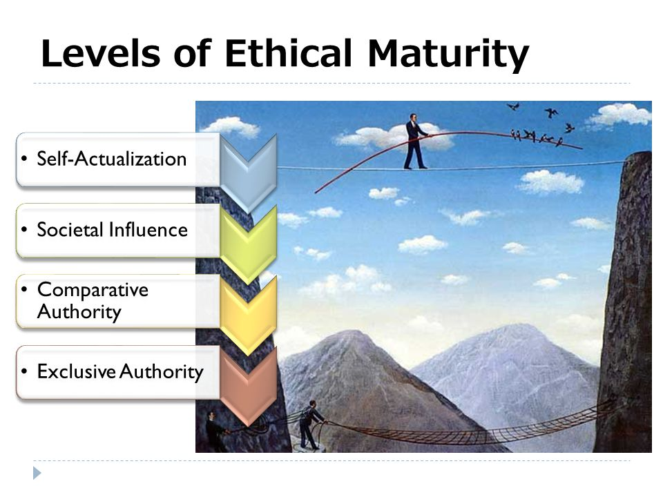 Levels of Ethical Maturity
