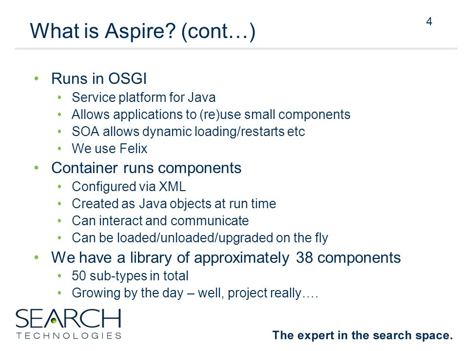 4 What is Aspire.