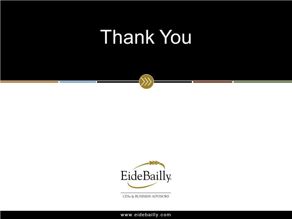 www.eidebailly.com Thank You