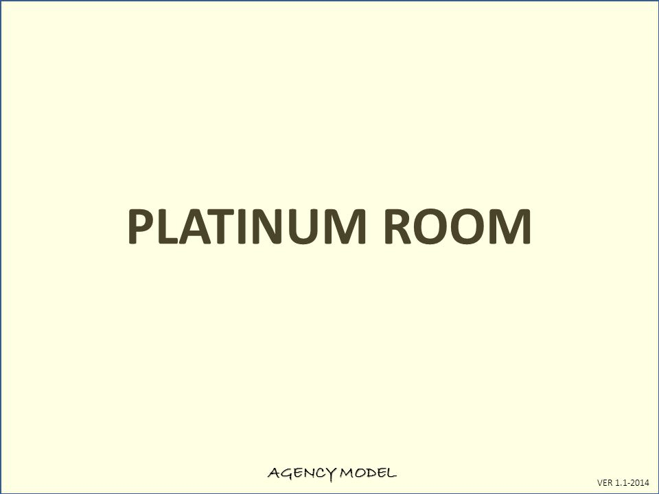 AGENCY MODEL VER 1.1-2014 PLATINUM ROOM