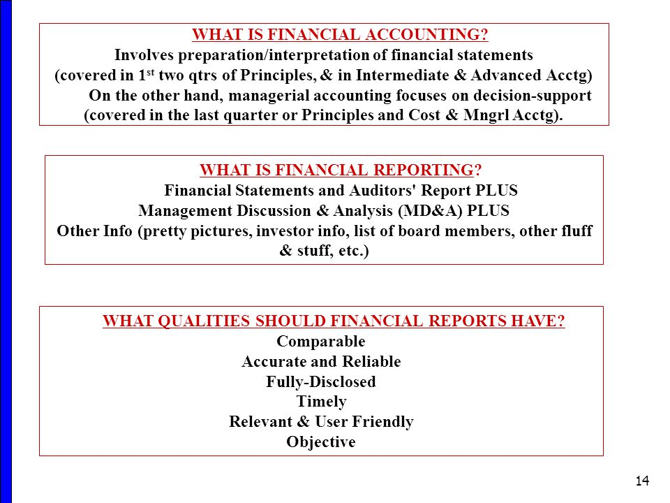 14 WHAT IS FINANCIAL ACCOUNTING.