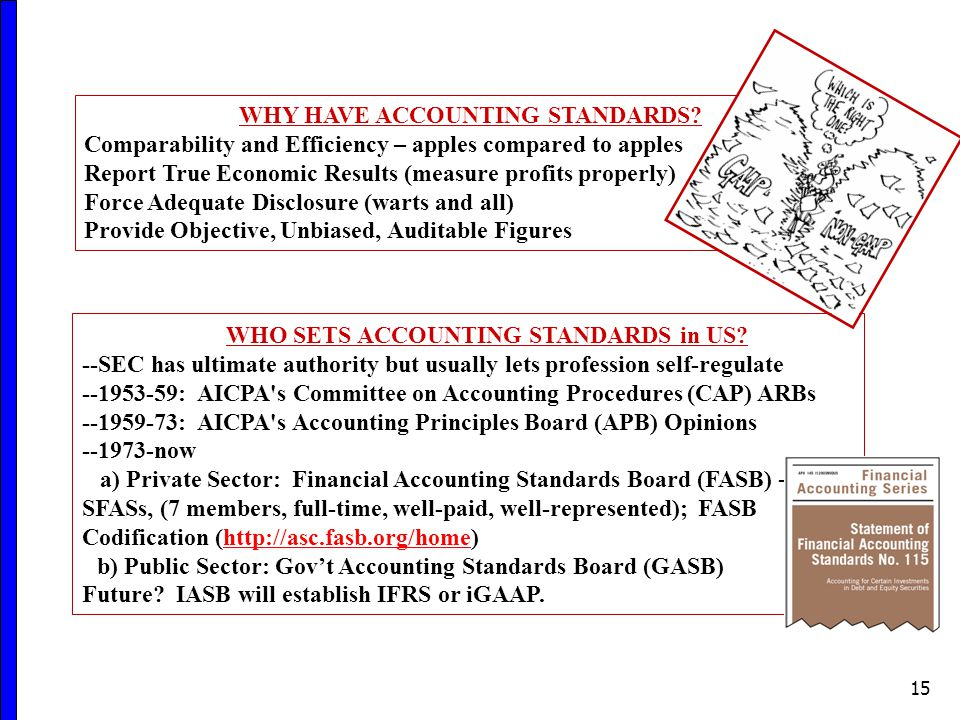 15 WHY HAVE ACCOUNTING STANDARDS.