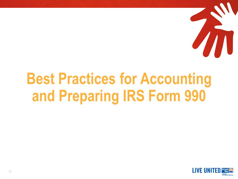 Best Practices for Accounting and Preparing IRS Form 990 10