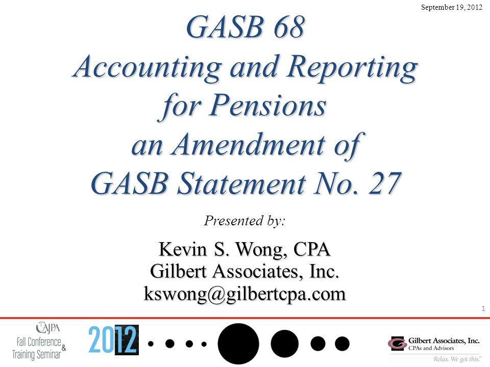 1 GASB 68 Accounting and Reporting for Pensions an Amendment of GASB Statement No.