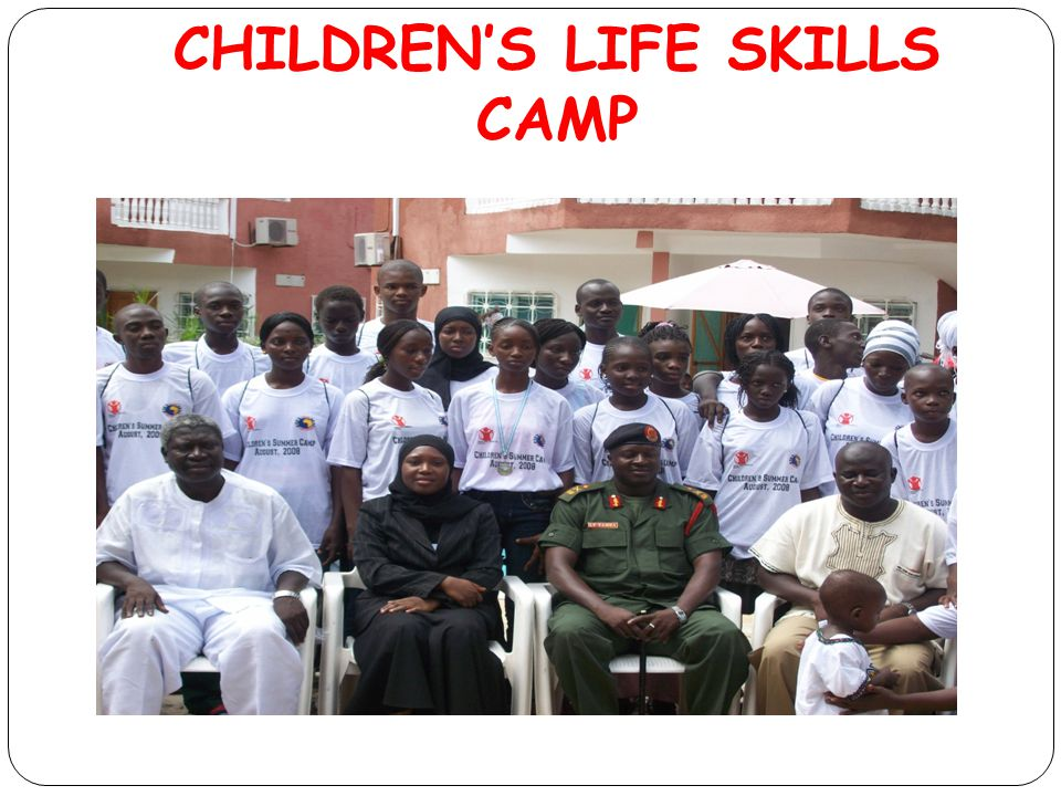 CHILDREN'S LIFE SKILLS CAMP