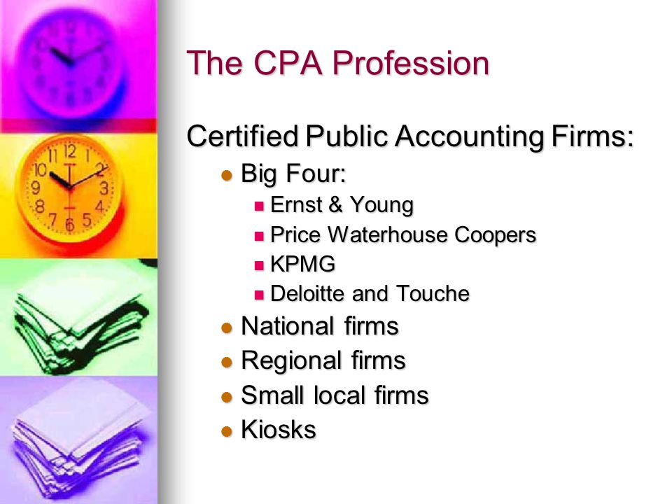 Types of Auditors Certified public accountants – all types of audits Certified public accountants – all types of audits General Accounting Office – co