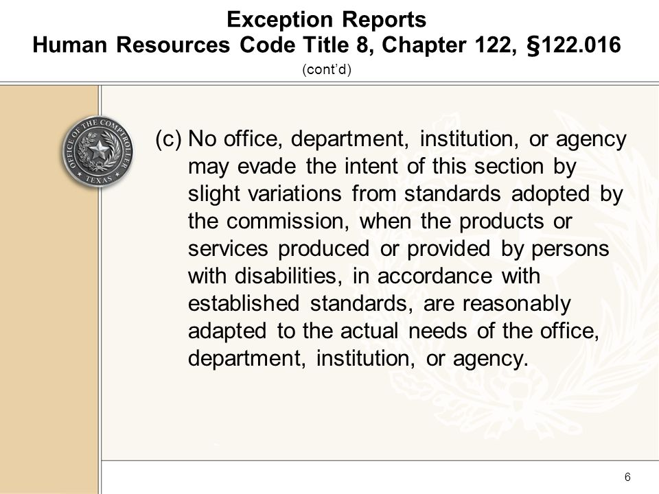 27 Section IV Entering Exceptions for Main Offices