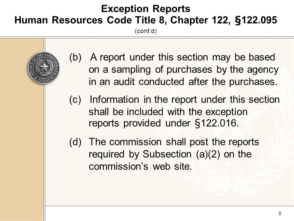 29 TCPPD State Use Program Entering Exceptions (cont'd) Click Add New Reporting Period