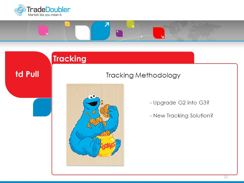 22 Tracking td Pull Tracking Methodology - Upgrade G2 into G3? - New Tracking Solution?