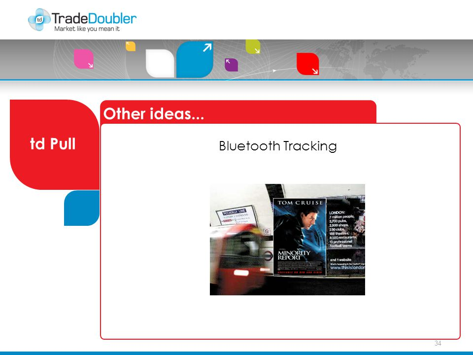 34 Other ideas... td Pull Bluetooth Tracking